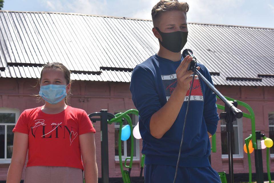Відкриття воркаут-майданчика в Озерній. Фото
