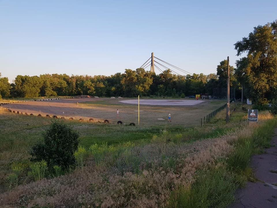 Відкриття бейсбольного поля, Київ. Фото