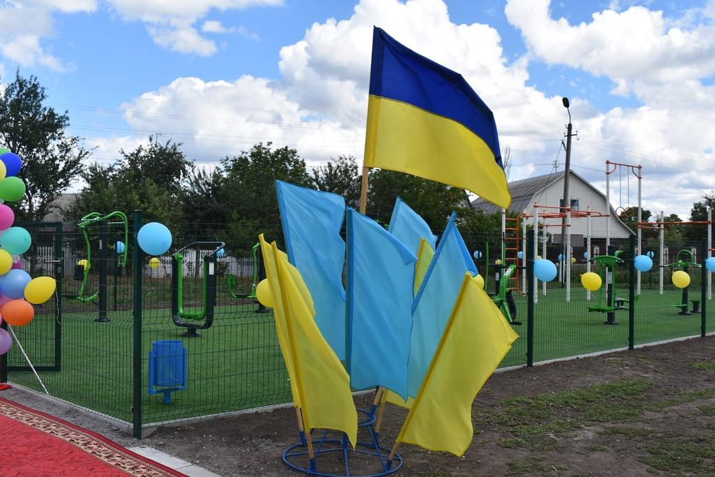 Відкриття майданчиків в Тетієвському районі. Фото