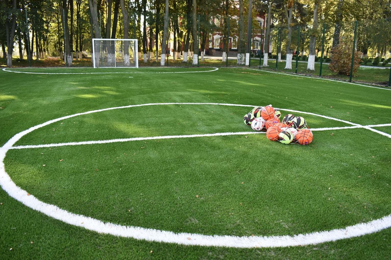 Відкриття футбольного поля в Розкішній. Фото