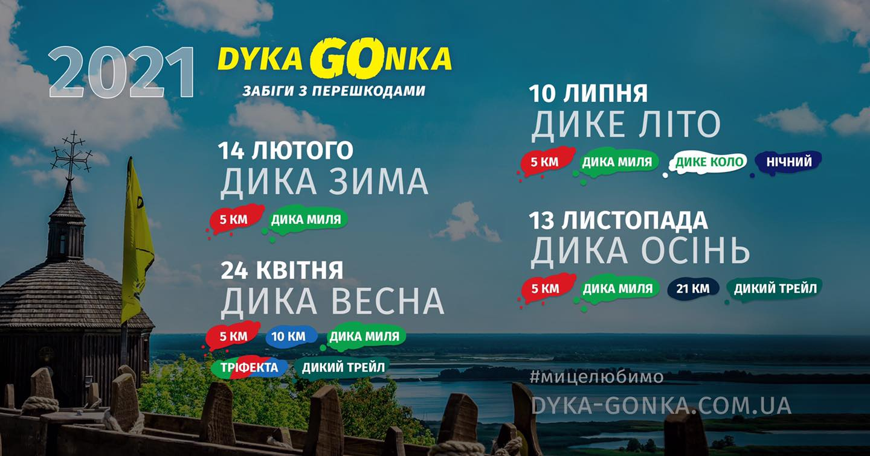 забіги з перешкодами «DYKA GONKA».