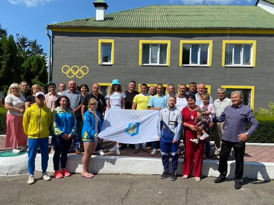Підняття олімпійського прапора, ЦОП Терезине. фото