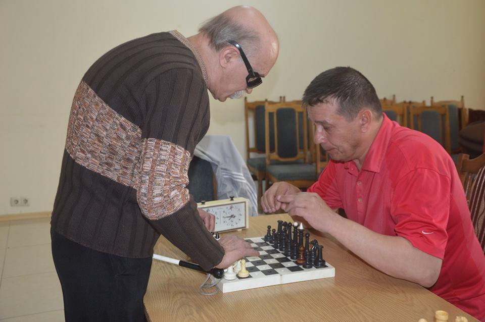Шаховий турнір серед незрячих, Обухів. Фото
