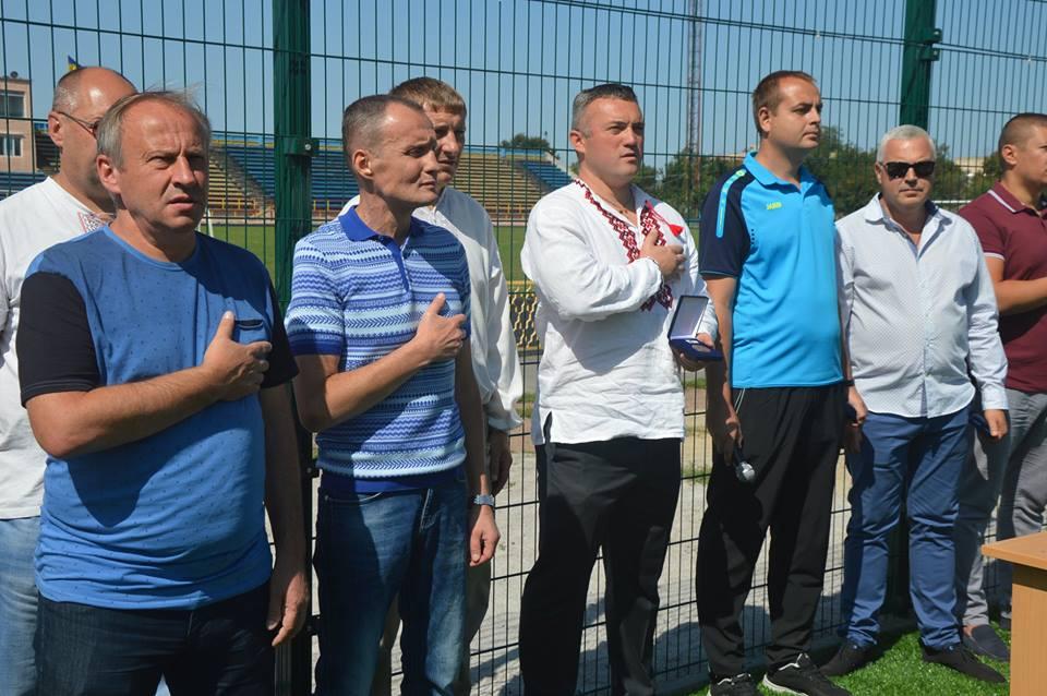 Відкриття футбольного поля у Фастові. Фото