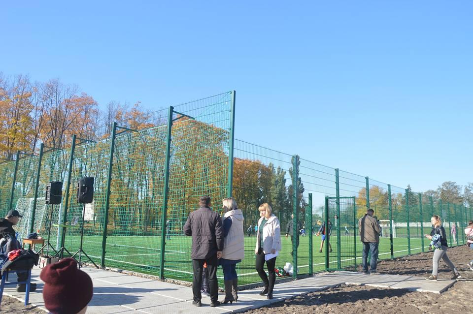 Відкриття футбольного поля в Баришівці. Фото
