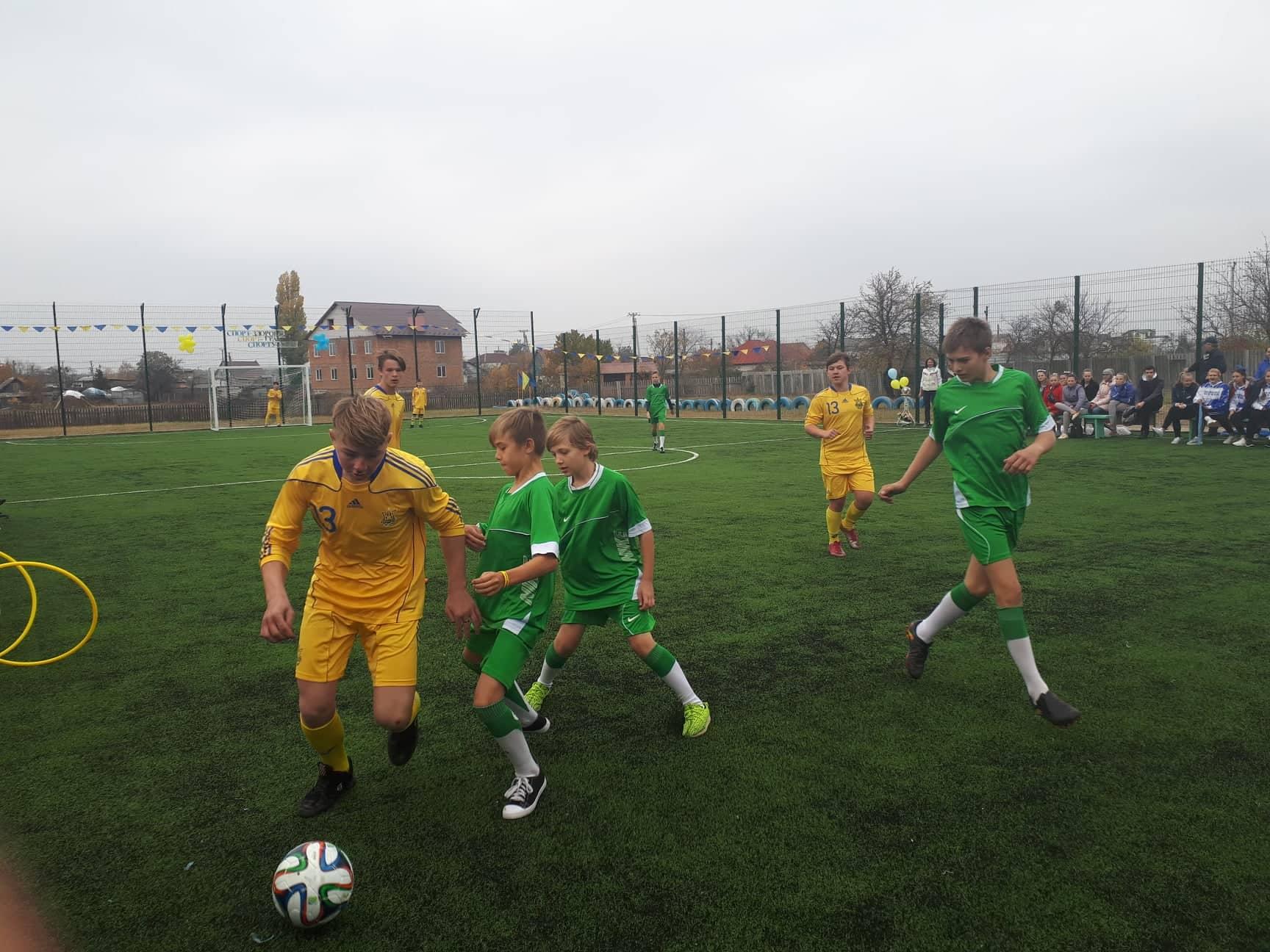Відкриття футбольного поля в Лебедівці. Фото