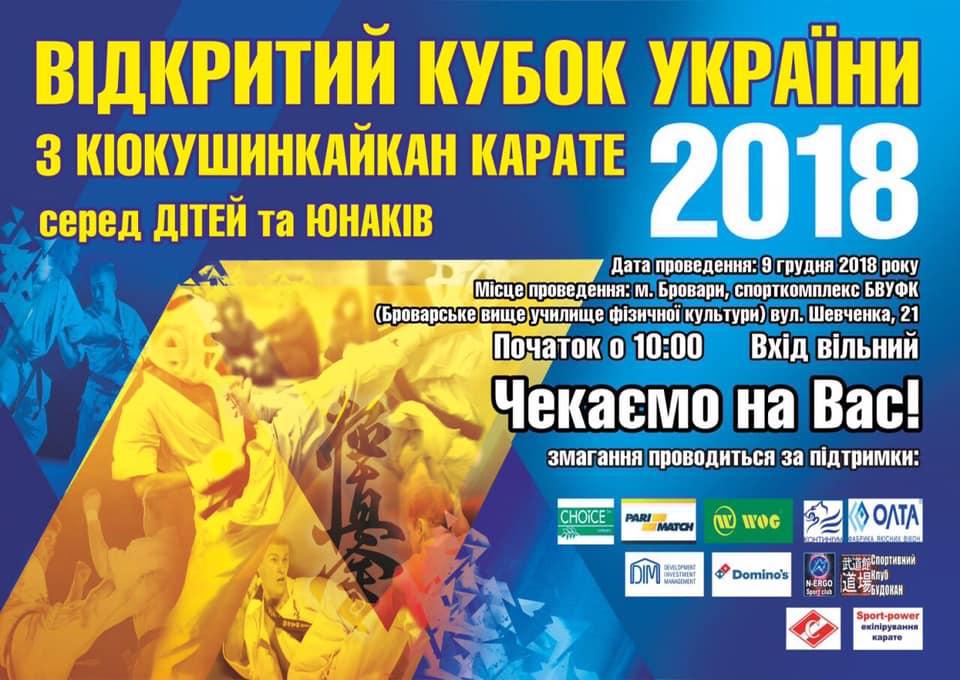 Відкритий Кубок України з кіокушинкайкан карате. Афіша
