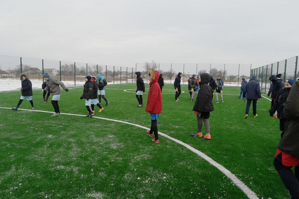 Відкриття футбольного поля у Великій Димерці. Фото