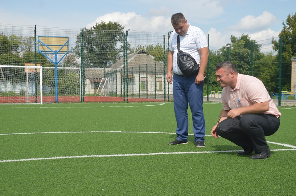 Інспекція спортивної інфраструктури Обухова. Фото