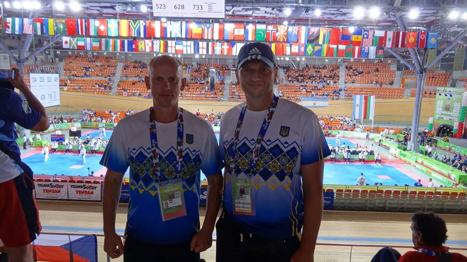 Ук Дара Чан та Юрій Севастюк, чемпіонат світу з таеквондо. Фото
