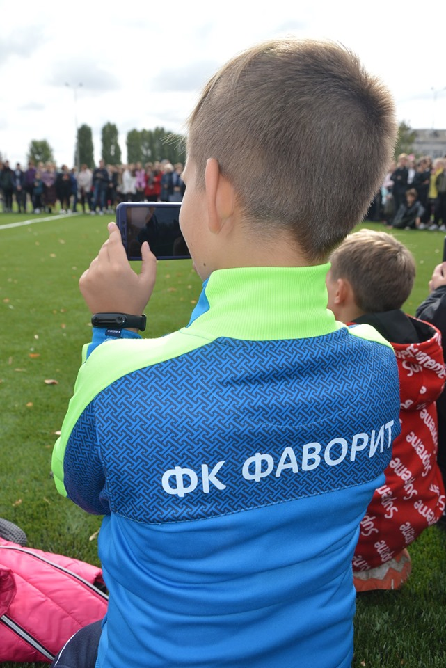 Відкриття стадіону в Борисполі. Фото