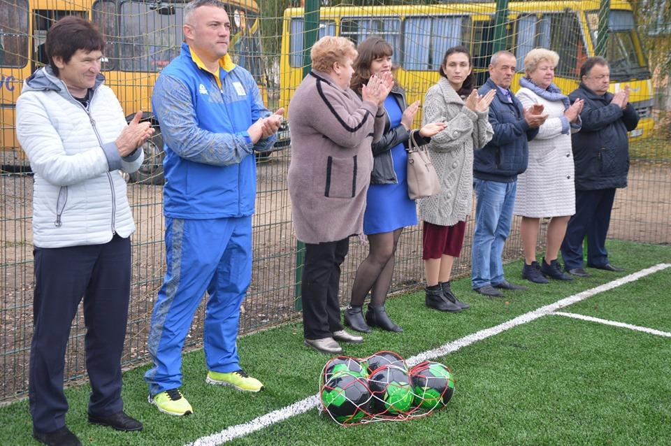 Відкриття спортивного майданчика в Переяславському. Фото