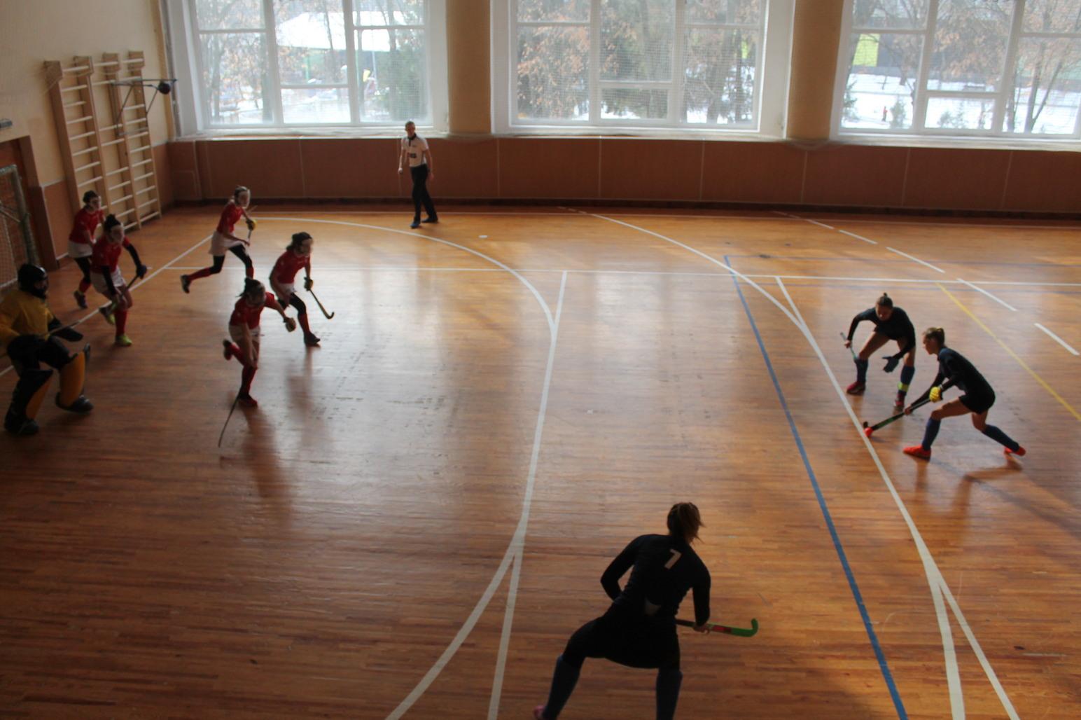 Чемпіонат України-2021 з індорхокею (хокею на траві у приміщеннях) серед жінок (фінал). фото