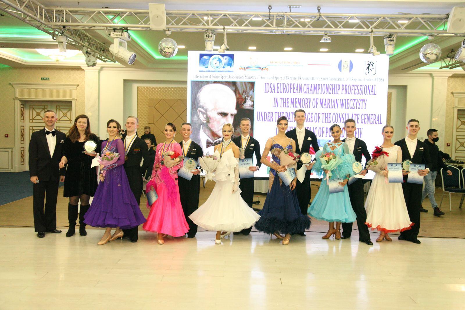 Чемпіонат Європи зі спортивних танців серед професіоналів в європейській та латиноамериканській програмах пам'яті Мар'яна Вєчисти. фото