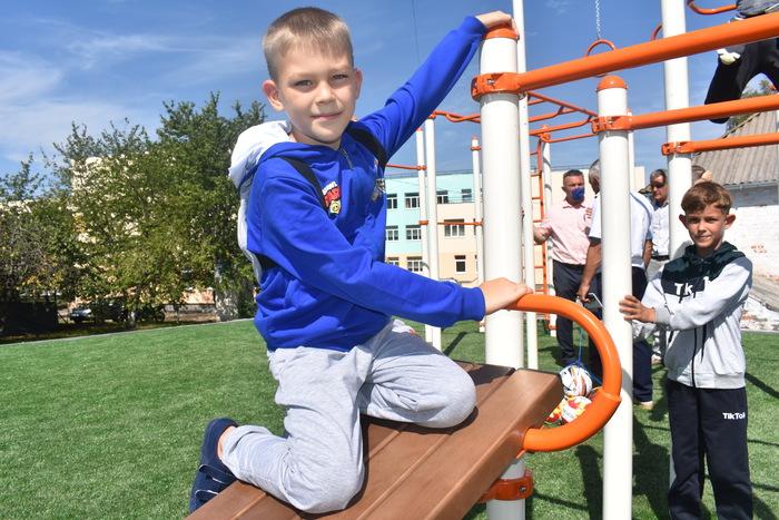Відкриття спортивних майданчиків на Київщині. Фото