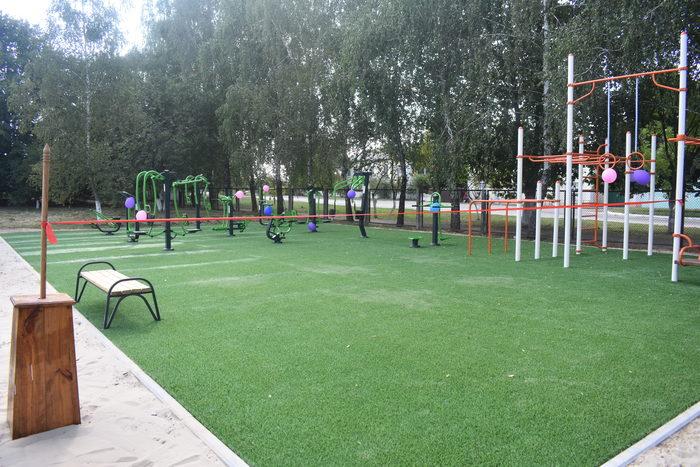 Відкриття workout-майданчиків в Макарівському районі. Фото