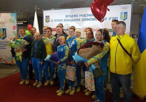Зустріч спортсменів з Олімпійських ігор. Фото