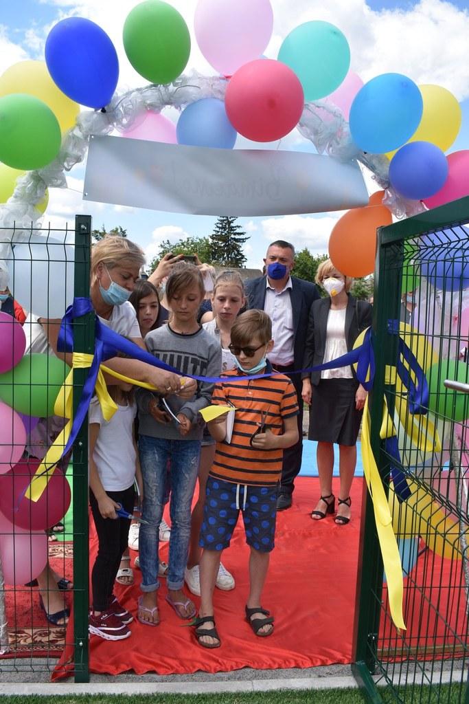 Відкриття воркаут-майданчика в Кашперівці. Фото