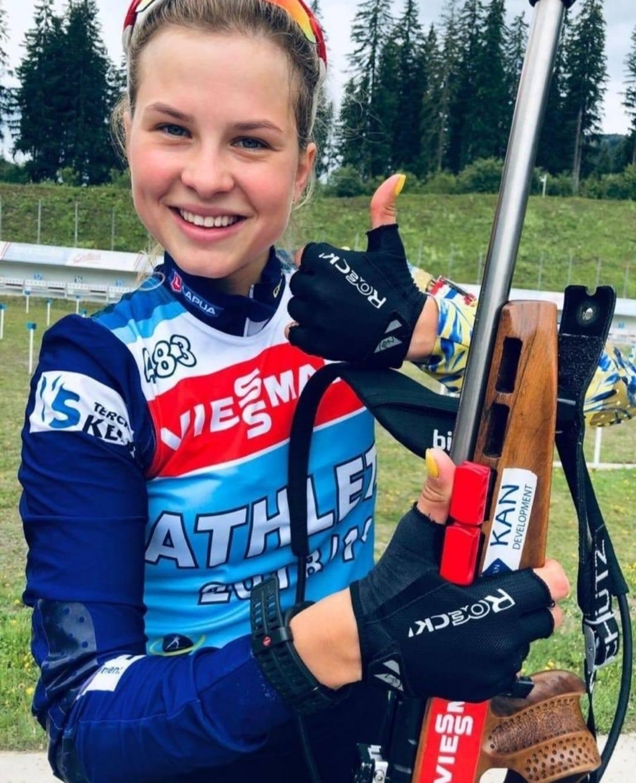 Катерина Бех виборола бронзу на Кубку Націй IBU з біатлону. Фото