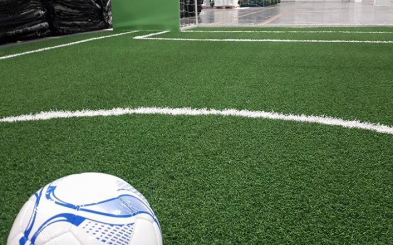 Завод з виробництва штучних футбольних полів ФФУ. Фото