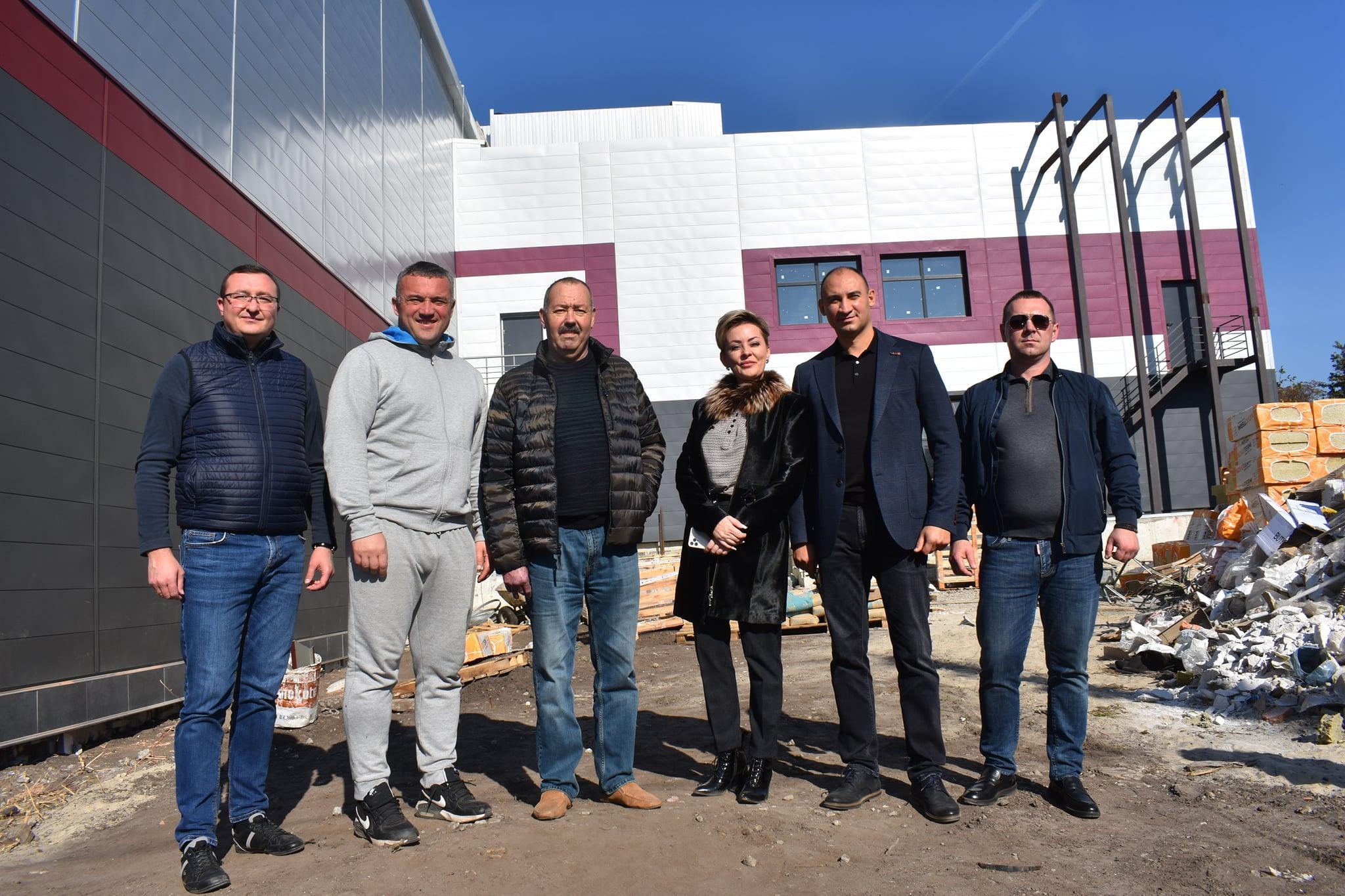 Сергій Тимофєєв проінспектував будівництво спортивних комплексів. фото