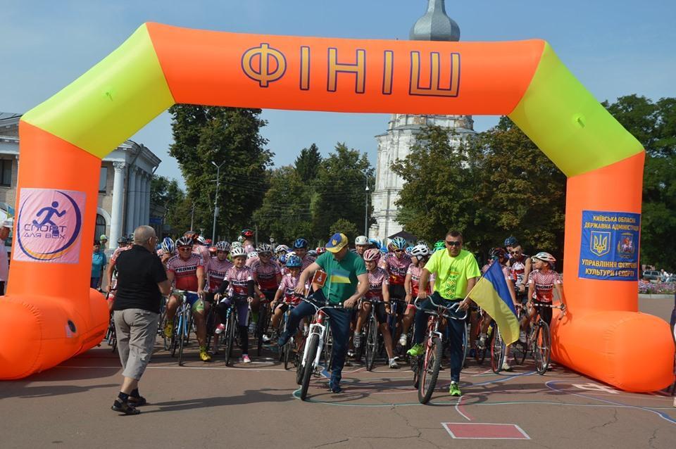 Велопробіг Переяславом до Дня Незалежності. Фото