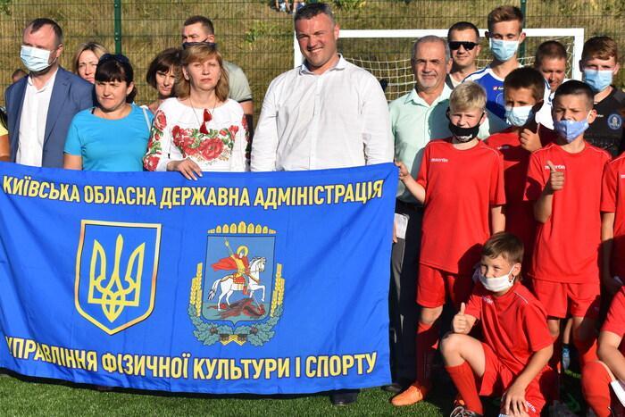 Відкриття міні-футбольного поля та воркаут-майданчика на Бориспільщині. Фото