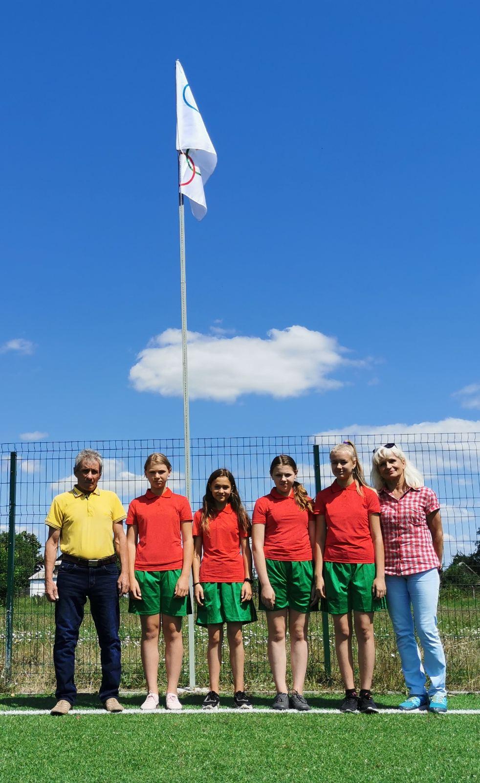 Підняття олімпійського прапора, Маловільшанська територіальна громада. фото