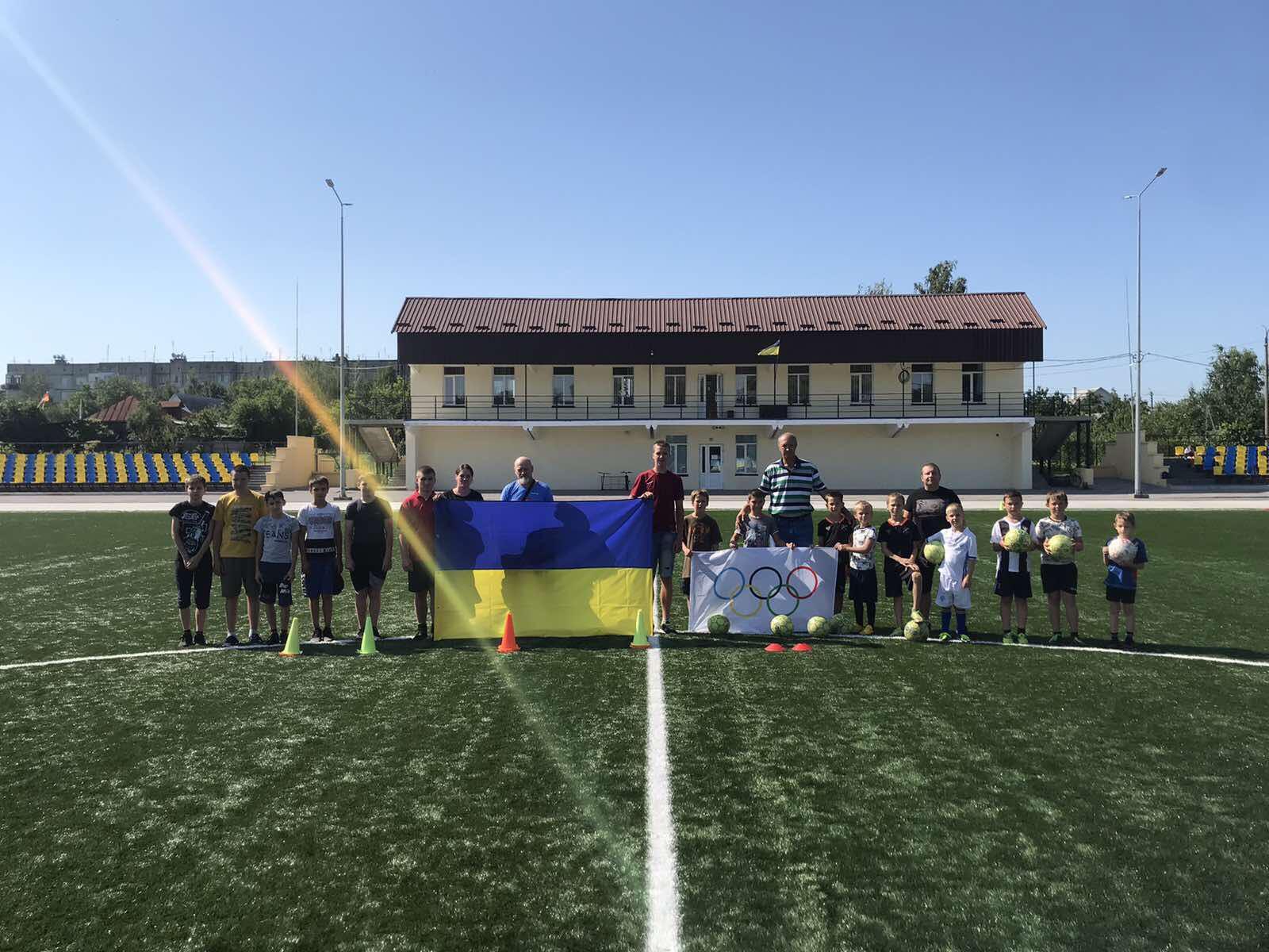 Підняття олімпійського прапора, Іванківська громада. фото
